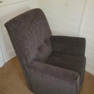 Fauteuil Iris stof taupe-antraciet