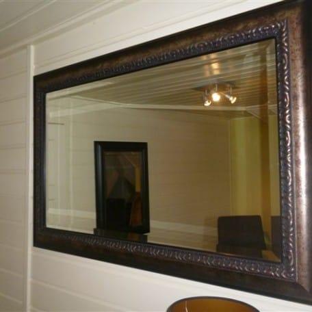 Spiegel baroklijst en facet geslepen glas for Spiegel glas